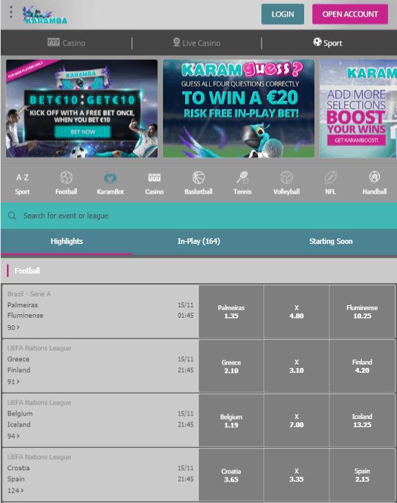 Karamba Betting App