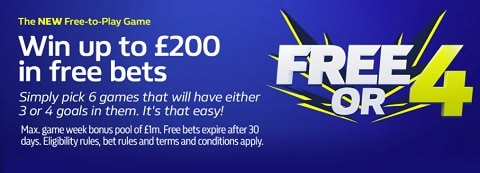 William Hill Free or 4