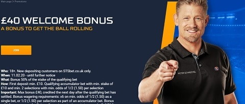STS £40 Sports Welcome Bonus