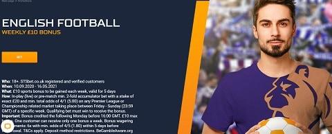 STS English Football Weekly £10 Bonus