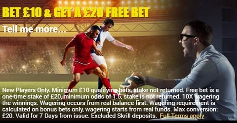 BazingaBet Bet £10 and Get A £20 Free Bet