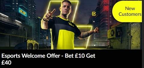 PariMatch Esports Welcome Offer – Bet £10 Get £40