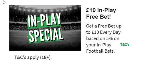 QuinnBet 10 In-Play Free Bet