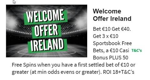 QuinnBet Welcome Offer Ireland