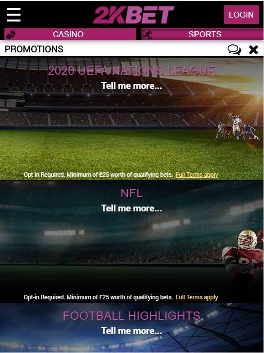 2kbet promotions