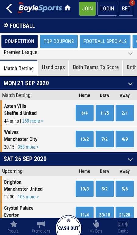 BoyleSports Football Betting