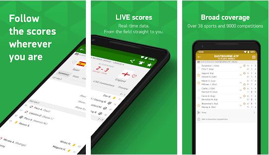 FlashScore app