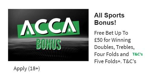 QuinnBet Acca Bonus – Horse Racing, Football, All Sports