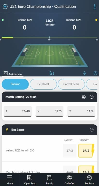 betvictor in-play betting