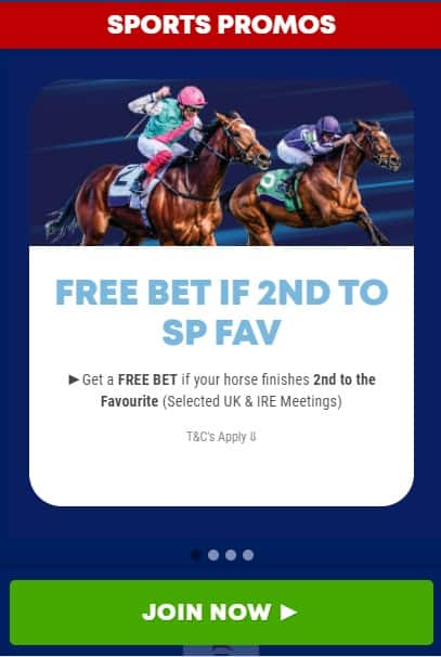 boylesports free bet if 2nd to SP fav