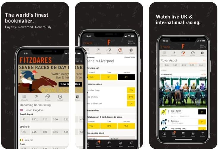 Fitzdares iOS app