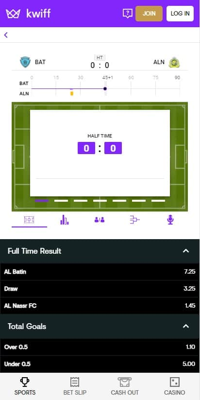 Kwiff football betting