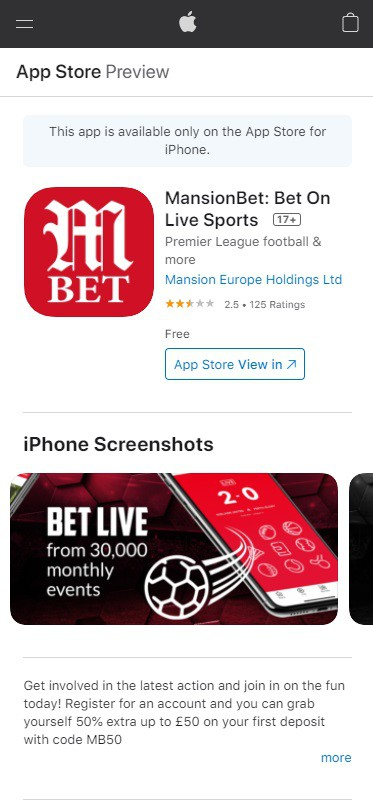 MansionBet App Download