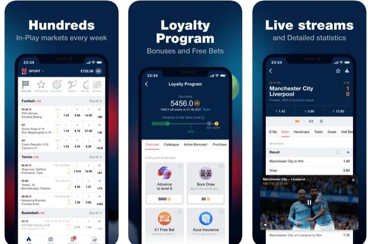 MarathonBet iOS app