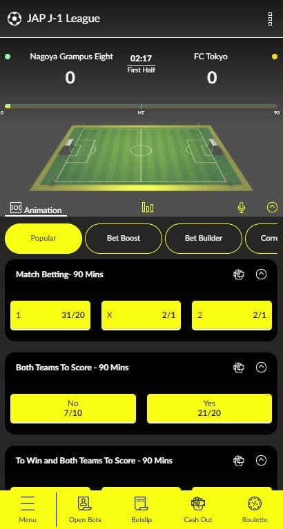 Parimatch in play betting