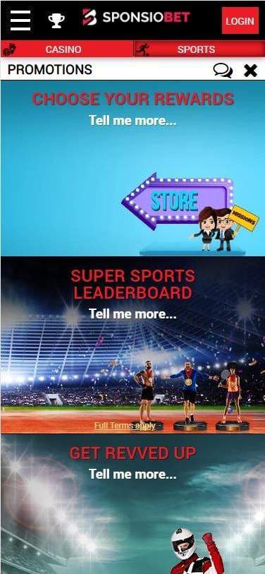 SponsioBet Promotions
