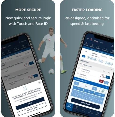 Sporting index app