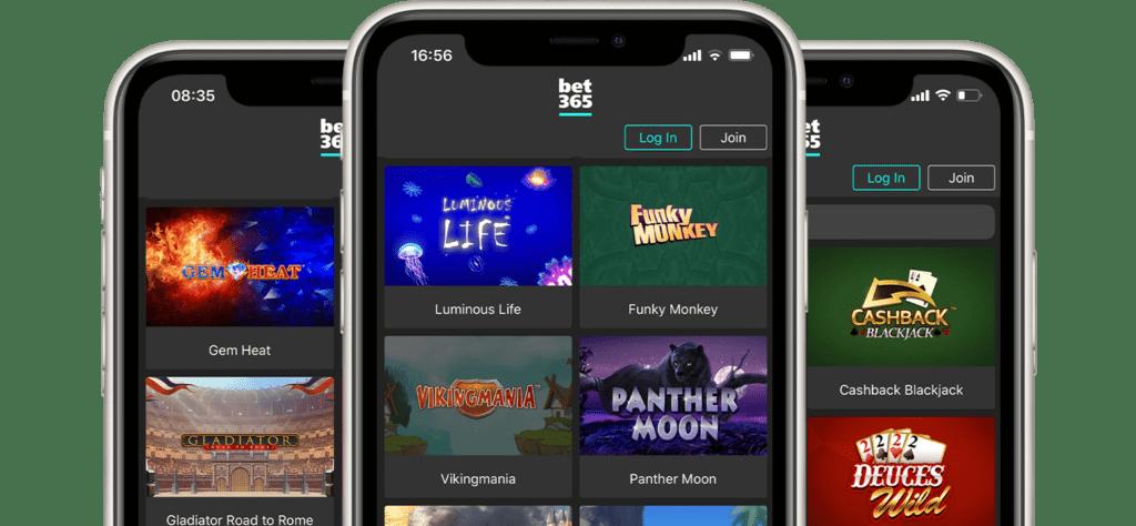bet365 mobile casino app