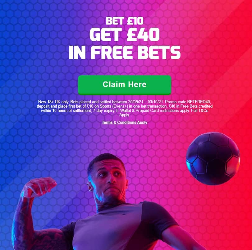 Betfred Bet 10 Get 40 Promo Code