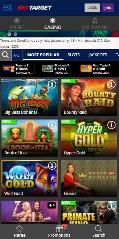 Bettarget Casino