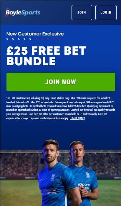 BoyleSports Welcome Offer